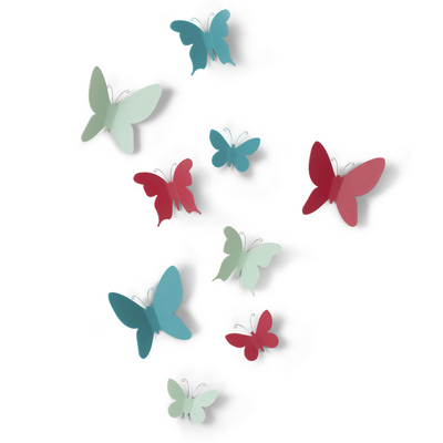 Wall Decor Mariposa, color 9pc