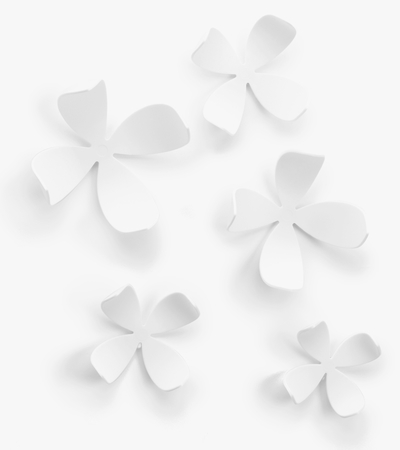 Wallflower Wall Decor -- wall decoration, 25pcs, white
