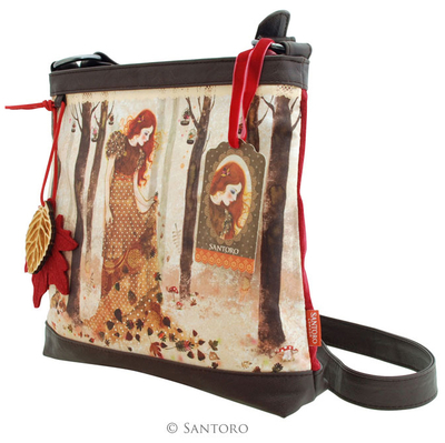 Willow shoulder bag, Autumn Leaves