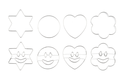 Winteria Cookie cutters smiley 8pcs