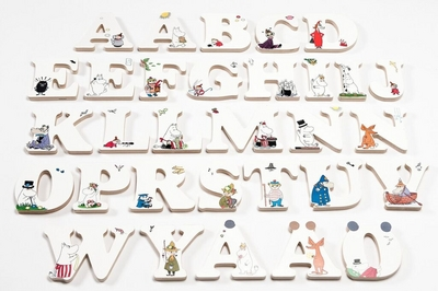 Wooden Moomin letters, choose from the alphabet