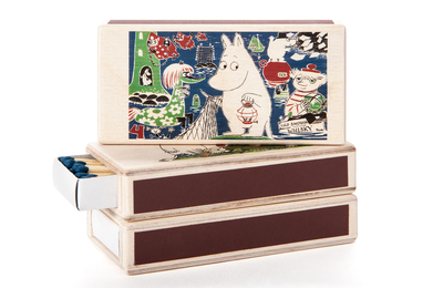 Wooden Moomin matchbox for two boxes, Comic 4