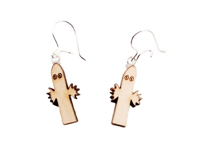 Wooden earrings, Hattifatteners