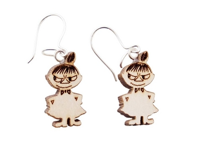 Wooden earrings, Little My