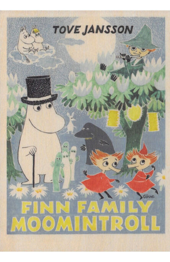 Wooden greeting card, Moomin Finn Family