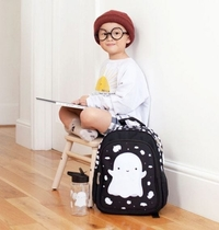 A Little Lovely Company backpack, ghost, black