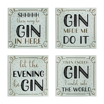 "A table coaster, 4 set, ""Gin Time"""