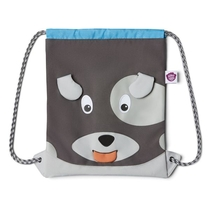 Affenzahn children's drawstring bag, grey dog