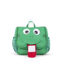 Affenzahn children's toiletry bag, green frog