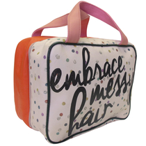 Ampersand toiletry bag with carrying handles