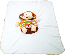 Baby's blanket, with a monkey toy