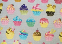 Baby's illustrated diaper gauze/ cloth gauze, Cupcakes