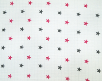 Baby's patterned diaper gauze, star, pink
