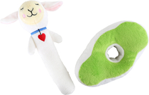 Baby's soft toy rattle, Lotta sheep