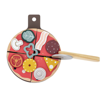 Bloomingville children's wooden pizza toy set