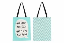 Canvas shopping bag. Different text.