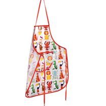 Children's apron, Colorful creatures