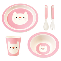 Children's feeding set, 5 parts Cookie Cat