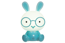 Children's room Bunny touch lamp, blue