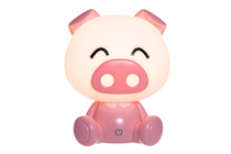 Children's room Piggy touch lamp, pink
