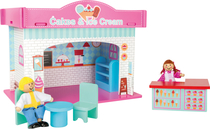 Children's wooden ice cream stand with accessories