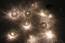 Christmas lights / Led-lights wireballs, silver