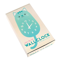 Cookie cat wooden wall clock