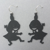 Coruu Little My dancing earrings, black
