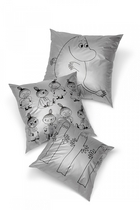 Cushion cover Little My, silver 50*50cm