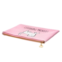 Cutie Cat Makeup bag, Looking purrfect, pink