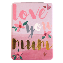 "Disaster Designs Ta-daa ""Love you mum"" pocket mirror"