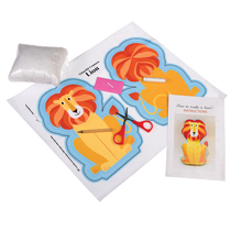 Do-It-Yourself Lion soft toy in a gift box