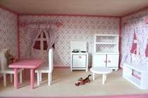 "Doll House ""Villa Ruusu"" kitchen furniture, 6pc"