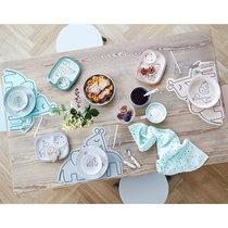 Done By Deer Dream dots dining tray, grey