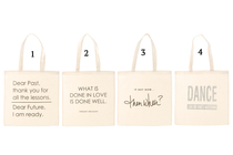 Fabric bag with a funny text, 4 different styles