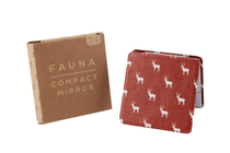 Fauna pocket mirror, red moose