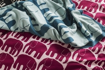 Finlayson Elephant duvet cover set, wine red / rose