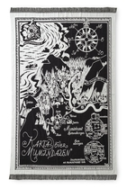 Finlayson Moomin Reversible Blanket Map of Moomin valley, black/white