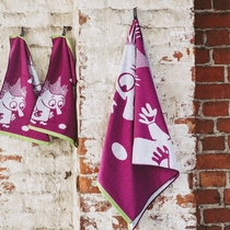 Finlayson bath towel Thingumy and Bob, 70x140cm, fuchsia