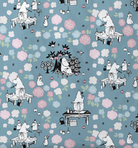 Finlayson duvet cover set Moominmamma dreaming, grey