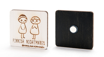 Finnish Nightmares Aino&Matti magnet, square