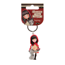 Gorjuss™ keychain decoration / key fob, Little Red Riding Hood