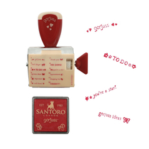 Gorjuss™ stamp and notepad set Little Red Riding Hood