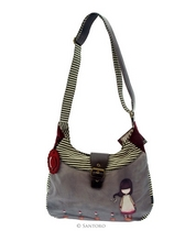 Gorjuss Slouchy Bag  Last Rose Woollen Shoulder Bag