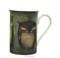 Grumpy Owl - Tall Mug in a Gift Box