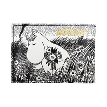 House of Disaster Moomin card wallet Moomintroll Daydreaming, black