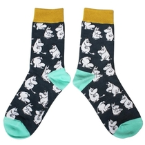 House of Disaster Moomin socks, Moomins