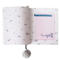 House of Disaster Over the Moon cat notebook