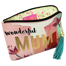 "House of Disaster Ta-daa ""Wonderful Mum"" pouch in a gift box"