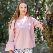 HuiGee Basic blouse Frilla, rose